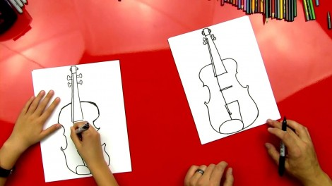 how to draw cello step by step 6