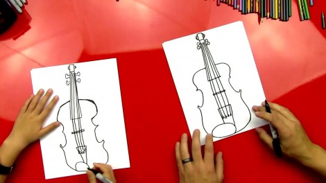 how to draw cello step by step 7