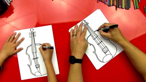 how to draw cello step by step 8