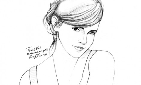 how to draw emma watson step by step 5