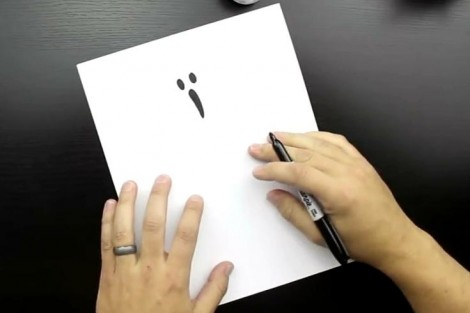 how to draw ghost step by step 2