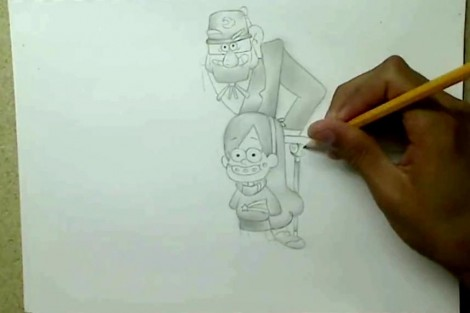 how to draw gravity falls characters 3