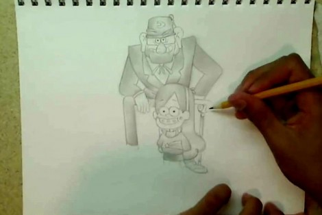 how to draw gravity falls characters 4