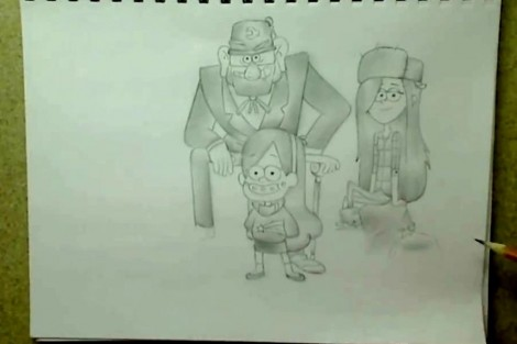 how to draw gravity falls characters 6
