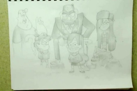 how to draw gravity falls characters 7