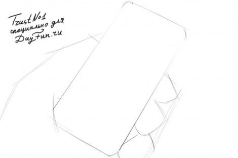 how to draw iphone 6 step by step 1