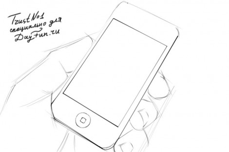 how to draw iphone 6 step by step 2