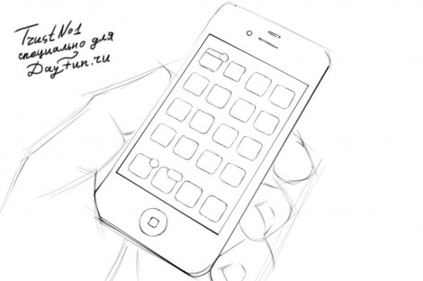 how to draw iphone 6 step by step 3