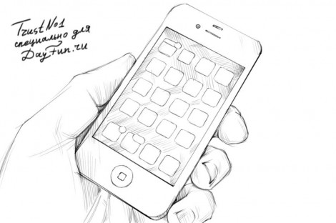 how to draw iphone 6 step by step 4