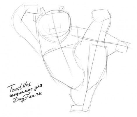 how to draw kung fu panda step by step easy 1