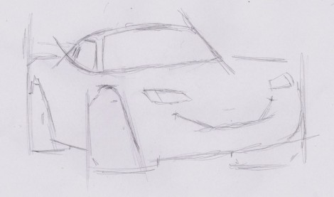 how to draw lightning mcqueen from cars 2