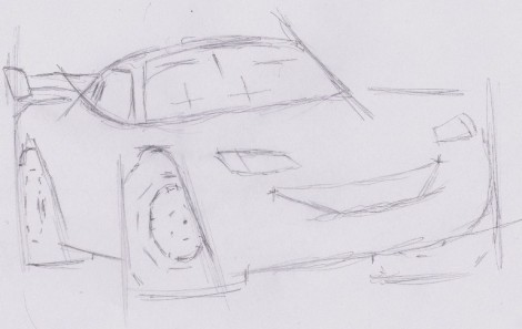 how to draw lightning mcqueen from cars 3