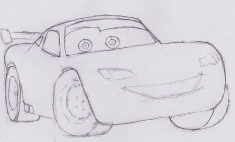 how to draw lightning mcqueen from cars 4