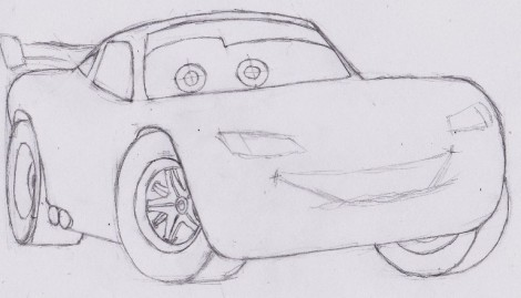 how to draw lightning mcqueen from cars 5