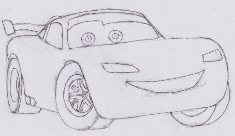 how to draw lightning mcqueen from cars 6
