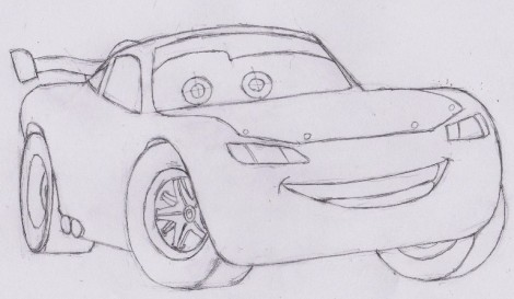 how to draw lightning mcqueen from cars 7