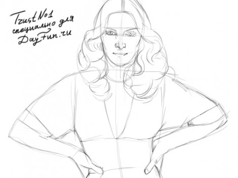 how to draw madonna step by step 2