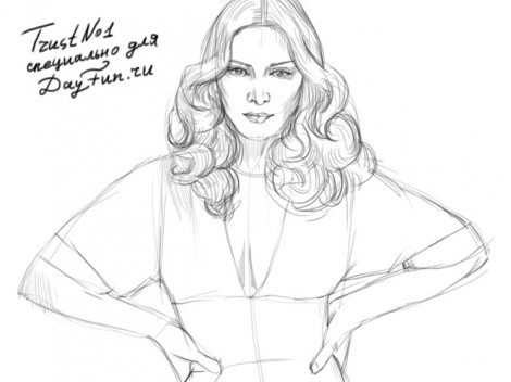 how to draw madonna step by step 3