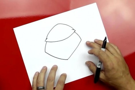 how to draw master yoda step by step 1