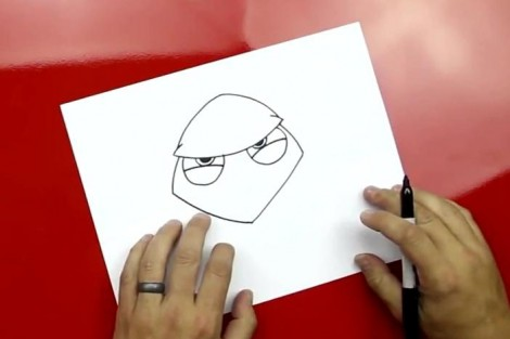 how to draw master yoda step by step 2