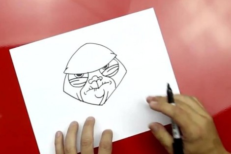 how to draw master yoda step by step 4