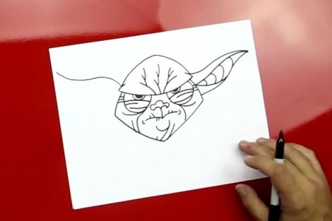 how to draw master yoda step by step 5