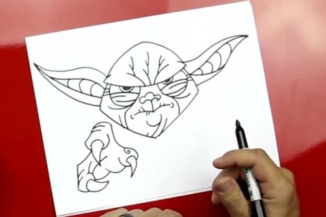 how to draw master yoda step by step 6