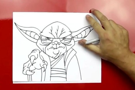 how to draw master yoda step by step 9