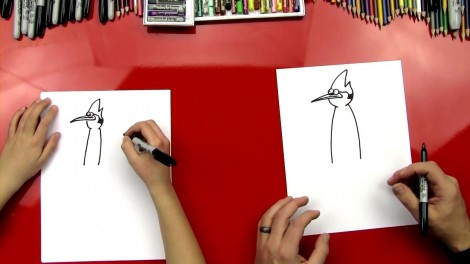 how to draw mordecai step by step 4