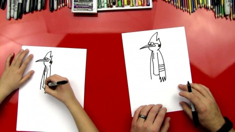how to draw mordecai step by step 5