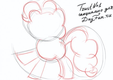 how to draw pinkie pie step by step 2