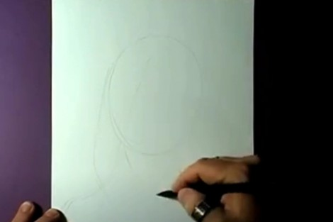 how to draw portrait with pencil step by step 1