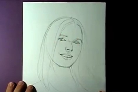 how to draw portrait with pencil step by step 3