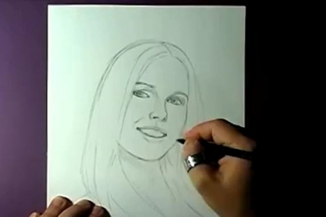 how to draw portrait with pencil step by step 4