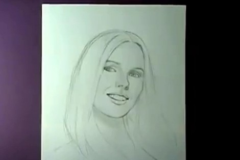 how to draw portrait with pencil step by step 5