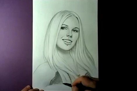 how to draw portrait with pencil step by step 7