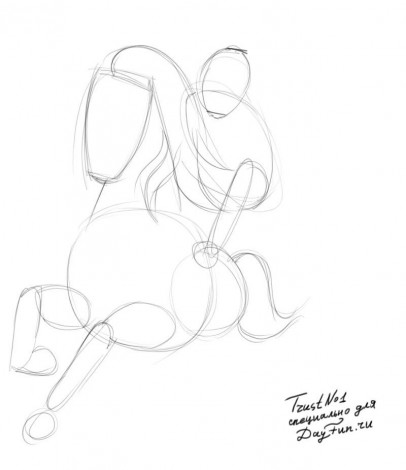 how to draw spirit the horse step by step 1