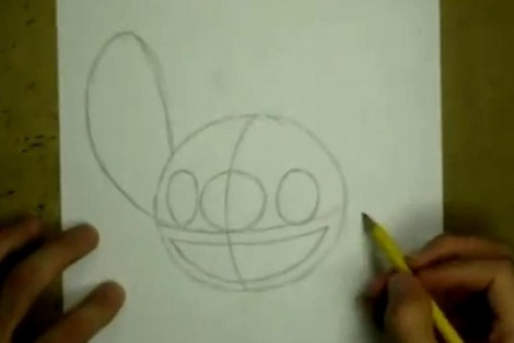 how to draw stitch step by step 1