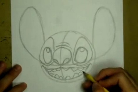 how to draw stitch step by step 2