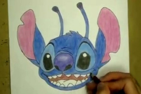 how to draw stitch step by step 5