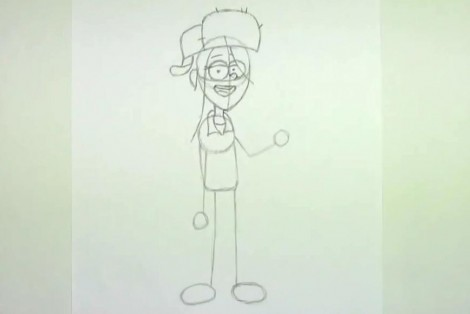 how to draw wendy from gravity falls step by step 4