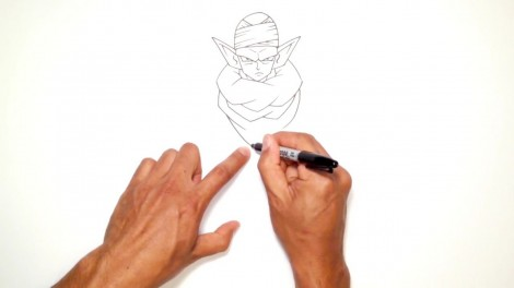 How to Draw Piccolo (Dragon Ball Z)- Step by Step.mp4_20150916_222418.924