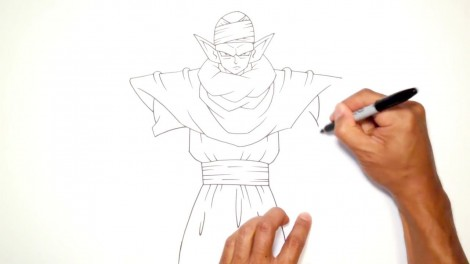 How to Draw Piccolo (Dragon Ball Z)- Step by Step.mp4_20150916_222434.868
