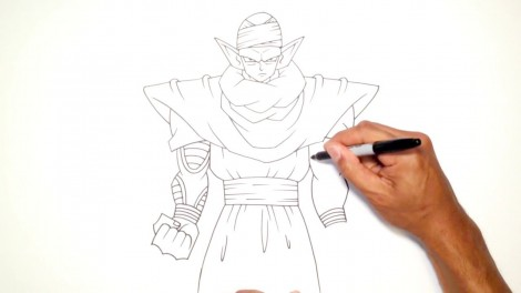 How to Draw Piccolo (Dragon Ball Z)- Step by Step.mp4_20150916_222446.692