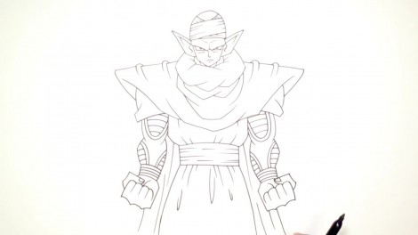 How to Draw Piccolo (Dragon Ball Z)- Step by Step.mp4_20150916_222456.548