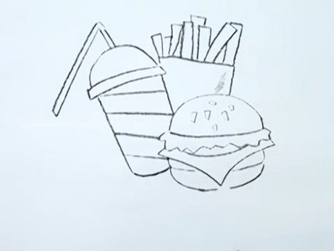How to Draw a Junk Food.mp4_20150926_215211.378