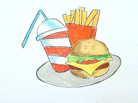 How to Draw a Junk Food.mp4_20150926_215225.650