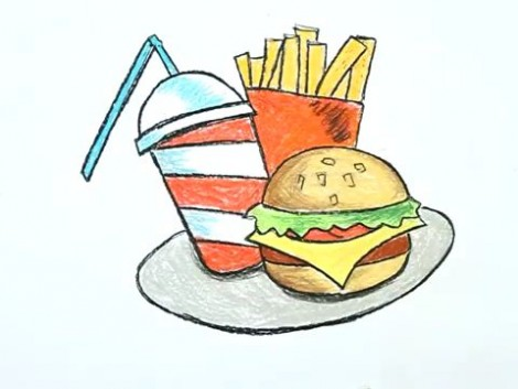 How to Draw a Junk Food.mp4_20150926_215237.074