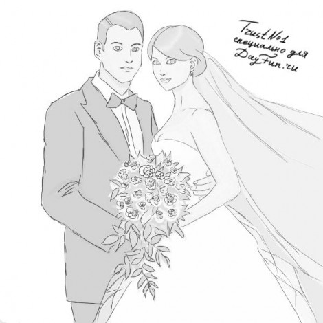 How to draw wedding step by step 5