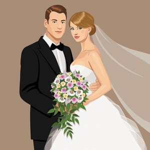 How to draw wedding